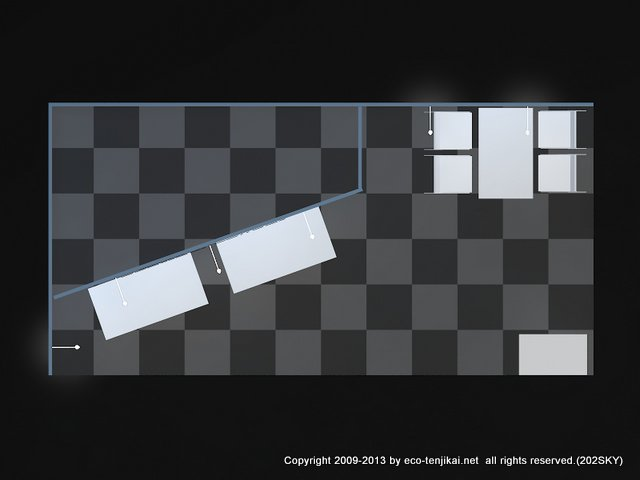 2小間収納付き2面パッケージブース