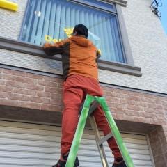 窓カッティング工事完了!